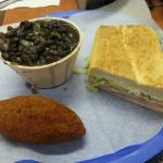 Cuban Sandwich, Black Bean Soup, and the Deviled Crab