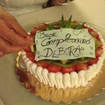 torta preparata dall'hotel