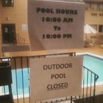 One of the pool closures- this even happened on nice days