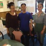 From left to right, Owner Linda Hao, Cook Andy, and Lida's mother, LiLi.