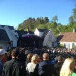 En helg i juni hvert år, stenges museet til fordel for konserter i hagen. Sommerstemning!