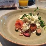 Sample breakfast at The Hazelton Hotel