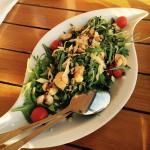 Ruccolasalat mit Shrimps