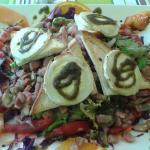 salade lardons chevre chaud