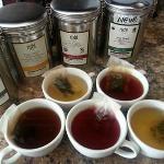 Our assortment of Rishi organic and fair-trade teas