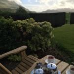 Welcome tea with a beautiful view upon arrival