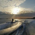 Wakeboarding in beautiful Huntington Bay!
