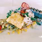 lobster tails with lobster ravioli