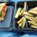 Chicken Club Basket - tastes better than this pic looks!