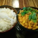 Curried Chick Peas & Jasmine Rice