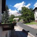 Hotel backside walkway