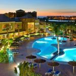 Vista panorámica nocturna del Hotel