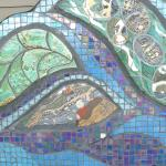 Nice mosaics in the nearby community square