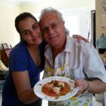 Cooking shrip scampi with my daughter Elizabeth