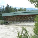Kicking Horse River flowing very fast.