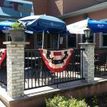 Enjoy good food and drink on our patio!
