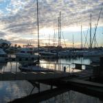 The marina Vilamoura at sunset