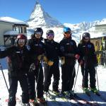 Instructors go off for a ski together making the most of the great conditions in Zermatt