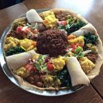 The injera sharing dish