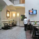 The open patio style lobby