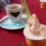 Rose gelato enjoyed at the cafe next door.