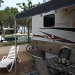 Camping pitch next to quai