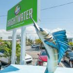 Marquee and sailfish statue
