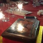 The sparkly cake
