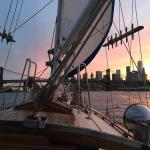 Sunset sailing on the East River!