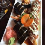 Surf and turf and crunchy roll