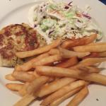 Crab cakes, coleslaw & fries