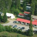 Helicopter view of Vista Motel