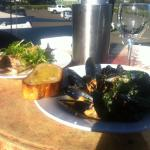 Black mussels and grilled snapper