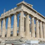 The Parthenon atop the Acropolis