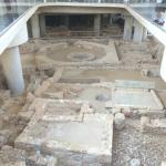 The excavation site under the Acropolis Museum