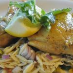 Lemon chicken with orzo lunch special