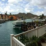 Looking out from lovely new deck at #228B, Jolly Harbour, Antigua.