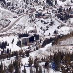 View of lodge from lift