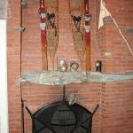 The fireplace in the Mountain Room