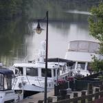 Boats parked at the Mariana outside Aqua Vino. You can visit Aqua Vino via the Erie Canal.