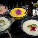 Some of our massive margaritas (blended), topped with