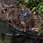 Old ship used in the filming of Outlander at Dysart harbour