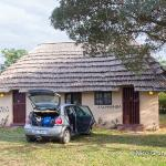 Duplex thatch with parking in front