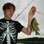 Kids had fun fishing