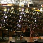 Wall of wine - that acts as the wine list!