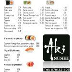Carte Sushi 2015