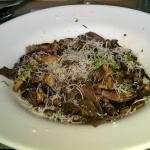 Foiade di Funghi-buckwheat papparedelle with mushrooms.
