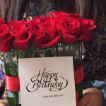 Roses provided for Birthday
