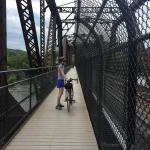 Bridge into Harper's Ferry - 3 story circular staircase to get on it - you have to carry your bi
