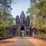 south gate of angkor thom temple